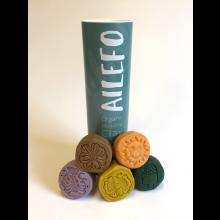 Ailefo modellervoks - 5 x 100 gram - Forårsfarver