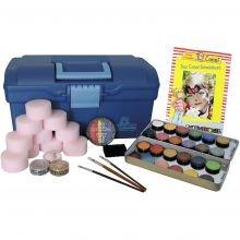 Kasvovärit - Salkku, 24 väriä ja tarvikkeita