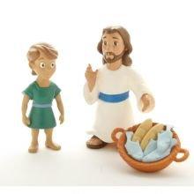Raamatulliset hahmot - Jeesus ruokkii 5000 ihmistä