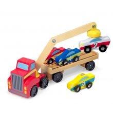 Autonkuljetusauto - Magneettinen, 4 autoa