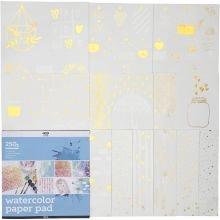 Blok til akvarel/vandfarve, 12 ark