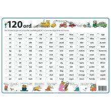 Dækkeserviet - 120 ord