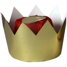 Dronningekrone i karton