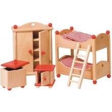 Nukkekodin tarvikkeet - Lastenhuone, klassinen