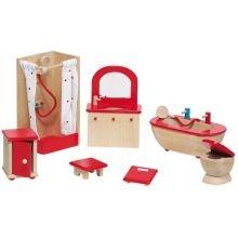 Nukkekodin tarvikkeet - Kylpyhuone, klassinen