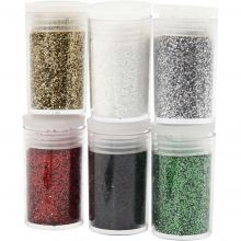 Glitter (jouluvärit), 6 x 5 g