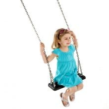 Gynge - Med gummisæde + kæde