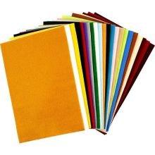 Askarteluhuopa 20 x 30 cm - 24 arkkia eri väreissä