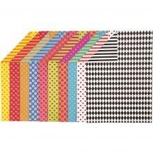 Kartonki A4 - Kuvioilla, 20 eri väristä arkkia