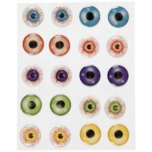 Tarrat - 3D silmät, Ø 20 mm, 1 arkki