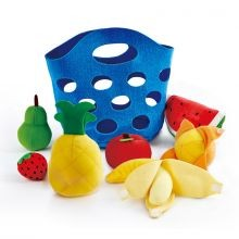 Leikkiruokaa plyysistä - Hedelmät
