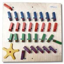Seinäpaneeli - Dominopeli, 4 riviä