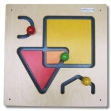 Seinäpaneeli - Geometrisia Muotoja & värejä