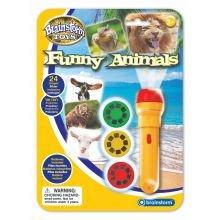 Lommelygte med dias - Sjove dyr
