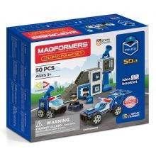 Magformers 50 palaa - Poliisiasema ja ajoneuvot