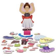 Magneettinen paperinukke, ballerina