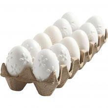 Maalaa muovisia munia kuvioilla, 12 kpl
