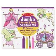 Malebog - Jumbo med prinsesser og feer