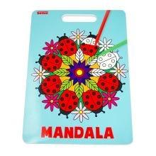 Malebog Mandala m. håndtag - Mariehøner