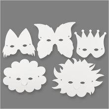 Masker i pap, 5 stk