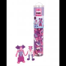 Plus-Plus paloja putkessa - Glitter Mix, 240 palaa