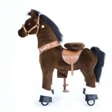 Ratsastettava hevonen, tummanruskea, keskikoko