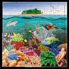 Interaktiivinen palapeli - Koralliriutta, 81 palaa