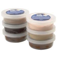 Silk Clay 6 x 14 g - Beigen ja ruskean sävyt