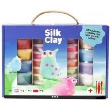 Silk Clay lahjapaketissa, 28 purkkia + työvälineet