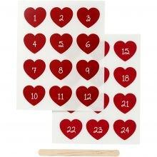 Siirtotarrat - Kalenteritarrat, punainen