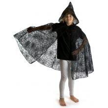 Udklædning - Kappe med edderkoppespind