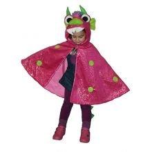 Udklædning - Kappe, pink drage