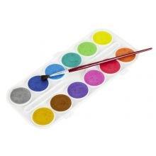 Vesivärit, helmiäisen värit - 12 kpl